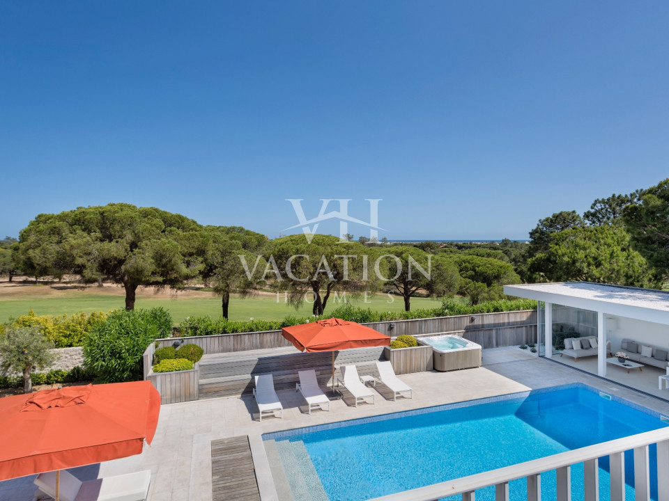 Contemporary property with excellent outdoor facilities.